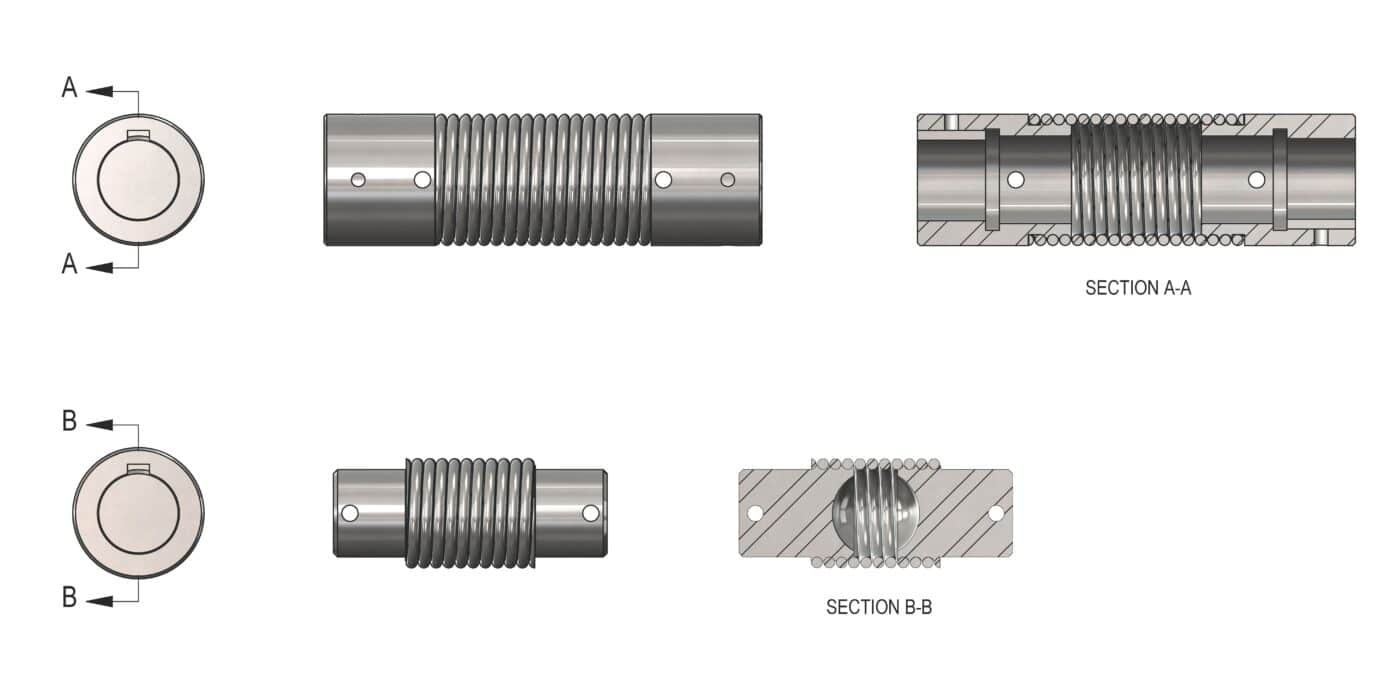 Elastomeric Couplings - Twin Spring Coupling components